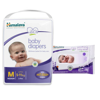 Himalaya Baby Diapers M-28 And Himalaya Soothing B...