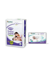 Himalaya Total Care Baby Diaper Pants-S 9 And Himalaya Gentle Baby Wipes 24'S