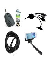 Vizio Key chain Camera Combo With Car Multiple Mobile Charger, AUX Cable and Selfie stick
