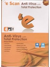 Escan Antivirus Total Protection-4 User 1Year, 4 users