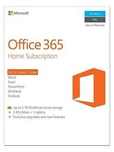 Microsoft Office 365 Home Subscription 5 PCs/Macs 5 Tablet Premium Services (Voucher) (Up to 5 users - 1 Year)