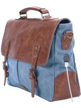 Portronics POR-822 Unisex Laptop Bag with Integrated charging Port, blue