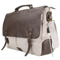 Portronics POR-826 Unisex Elements U Leather Messengers cum Laptop Bag