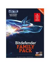 Bitdefender Total Security 3 User 1 Year (Multi Device - Windows, Mac & Android) Family Pack