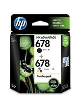 HP 678 2-pack Black & Tri-color Ink Advantage Cartridges, black