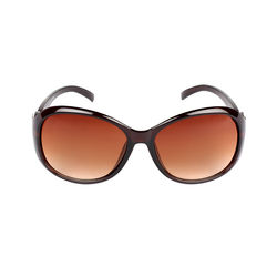 Adine Oval Frame Smart Women Sunglasses (AD-1451), brown
