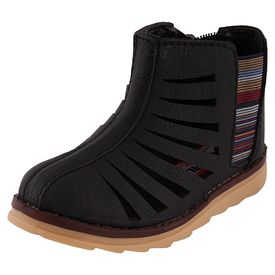 Rigau Boys  Black High Top Shoes (B076JCKSR7), 10