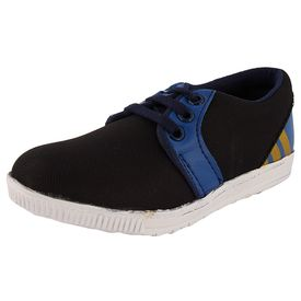 Rigau Boys  Black And Blue Sneakers (B076JD6BS9), 10