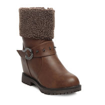 TEN Leather Boot And Uggs (TENUGSTBI-033BRW02),  brown, 41