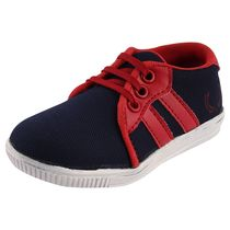 Rigau Kid'S Navyblue And Red Colored Lace-Up Sneakers/Stylish & Attractive Casual Lace-Up Shoes For Kid'S And Comfortable To Wear For Party Or Carry In Daily Life, 10