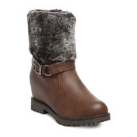 TEN Leather Boot And Uggs (TENUGSTBI-034BRW03),  brown, 39