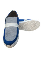 3 Wolves Canvas Loafers, 7, blue