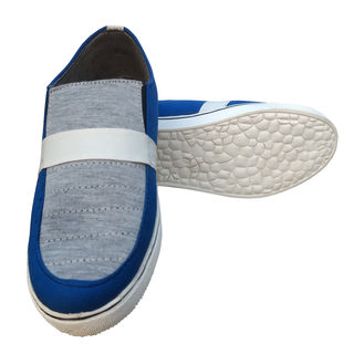 3 Wolves Canvas Loafers, 9, blue