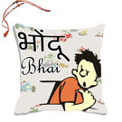 meSleep Bhondu Bhai Rakhi Hampers Cushion Cover With Beautiful Rakhis