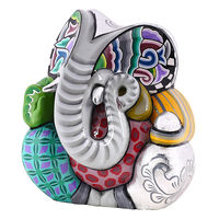 Shaze Big Ear Ganesha,  silver