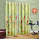 Cortina Green Leaf Theme Child Curtain (DG-S-7FT), light green