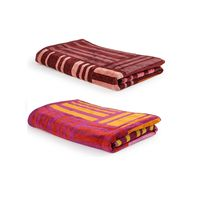 Turkish Bath 100% Pure Double Twisted Cotton 410 Gsm Broken Check Bath Towel - Pink And Brown