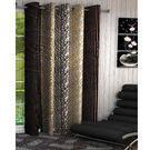 India Furnish Eyelet Polyester Curtain Long Door Length - Set Of 1 Pcs (IFCUR15028La),  brown