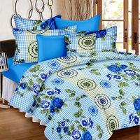 Ahmedabad Cotton Basics Cotton Double Bedsheet With 2 Pillow Covers (ACB20D00092)