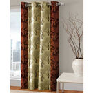 India Furnish Designer Brown Eyelet Polyester Curtain Door Length (Set of 1 Pcs) 84