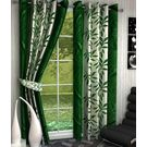 India Furnish Designer Green Eyelet Polyester Curtain Window Length (Set of 4 Pcs) 60