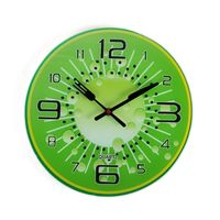 Cortina Wantermelon Design Glass Wall Clock,  green