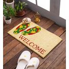 Swhf Premium Coir And Rubber Quirky Design Door And Floor Mat - Flip-Flop Welcome