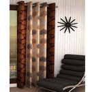 India Furnish Eyelet Polyester Curtain Long Door Length - Set Of 1 Pcs (IFCUR15044La),  brown