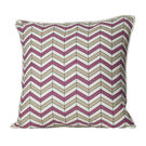 Monogram Multicolour Square Cotton Hand Print Cushion Cover Set - 5 Piece