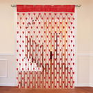 Cortina Heart Shape String Curtain Set Of 2-C,  red