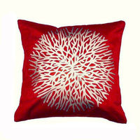 India Furnish Centerflower Maroon Cushion Covers (Pack Of 5)