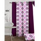 India Furnish Designer Wine Eyelet Polyester Curtain Door Length (Set of 8 Pcs) 84