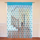 Cortina Heart Shape String Curtain Set Of 2-A,  blue