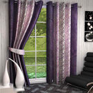 India Furnish Designer Plum Eyelet Polyester Curtain Window Length (Set of 2 Pcs) 60