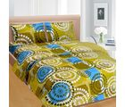 Cortina Cortina Double Bedsheet With Tow Pillow Cover-046-A (PDB-046-A), green