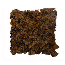 India Furnish Ruffles Brown Cushion Covers (Pack Of 5)