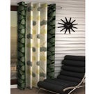 India Furnish Eyelet Polyester Curtain Long Door Length - Set Of 1 Pcs (IFCUR15042La),  green
