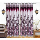India Furnish Designer wine Eyelet Polyester Curtain Door Length (Set of 6 Pcs) 84