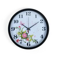 Cortina Round Analog Wall Clock-022,  white