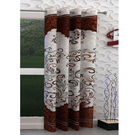 India Furnish Eyelet Polyester Curtain Long Door Length - Set Of 1 Pcs (IFCUR15007La),  brown