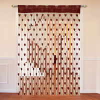 Cortina Heart Shape String Curtain Set Of 2-D,  brown