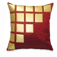 India Furnish Laser Patch Maroon Cushion Covers (Pack Of 5)