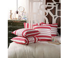 Swhf Cushion Cover - Red Stripes - Set Of 5