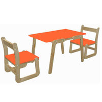 Ginnie & Ginnie Kindelove Study Table & Chair-Orange