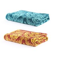 Turkish Bath 100% Pure Double Twisted Cotton 410 Gsm Royal Aura Bath Towel - Yellow And Green