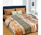 Cortina Floral Double Blanket Brown-012 (Coral Blanket, 1 Double size Coral Blanket), multicolor
