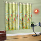 Cortina Green Leaf Theme Child Curtain (DG-S-5FT), light green