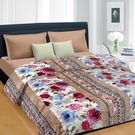 Cortina Floral Double Blanket Multicolor (Coral Blanket, 1 Double size Coral Blanket)