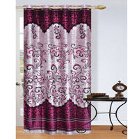 India Furnish Eyelet Polyester Curtain Long Door Length - Set Of 1 Pcs (IFCUR15006La), wine