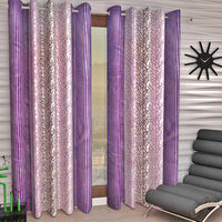 "India Furnish Designer Lavender Eyelet Polyester Curtain Window Length (Set of 2 Pcs) 60"" x48"""